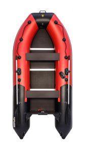 Лодка ПВХ Ривьера 3400 СК компакт красно/чёрная (Уценка)