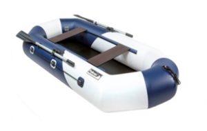 Лодка ПВХ Пеликан-268 (бело-синяя) RIVER