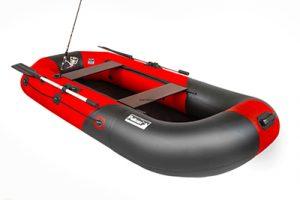 Лодка ПВХ Пеликан 270 River красно-черная надувная гребная