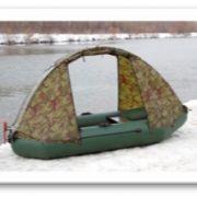 Тент для лодки ПВХ (ходовой) камуфляж 2