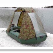 Тент для лодки ПВХ (ходовой) камуфляж 4