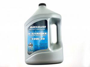 Фото Масло 4-х тактное Quicksilver для подвесников минеральное 10W30 (4л)