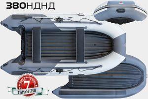 Лодка ПВХ Юкона (YUKONA) 380 НДНД надувная под мотор
