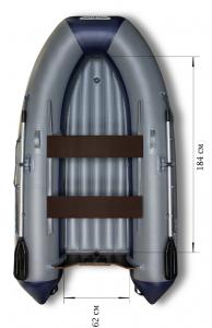 Лодка ПВХ Флагман 280 НДНД надувная под мотор