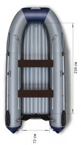 Лодка ПВХ Флагман 350 L НДНД надувная под мотор