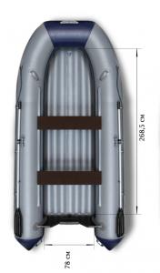 Лодка ПВХ Флагман 380 НДНД надувная под мотор