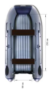 Лодка ПВХ Флагман 400 U НДНД надувная под мотор