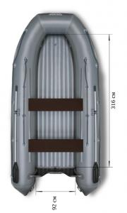 Лодка ПВХ Флагман 420 НДНД надувная под мотор