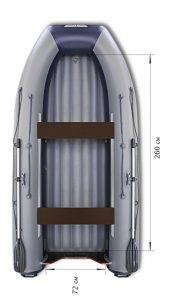 Лодка ПВХ Флагман DK 320 НДНД надувная под мотор