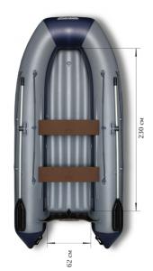 Лодка ПВХ Флагман 330 U НДНД надувная под мотор