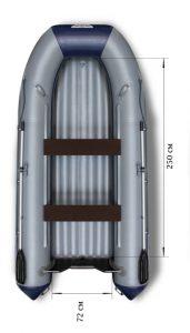 Лодка ПВХ Флагман 350 НДНД надувная под мотор