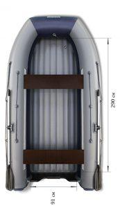 Лодка ПВХ Флагман DK 350 Jet НДНД надувная под мотор