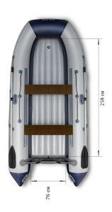Лодка ПВХ Флагман 360U НДНД надувная под мотор