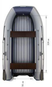 Лодка ПВХ Флагман DK 380 НДНД надувная под мотор