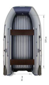 Лодка ПВХ Флагман DK 380 Jet НДНД надувная под мотор
