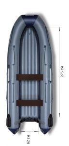 Лодка ПВХ Флагман 380 IGLA НДНД надувная под мотор