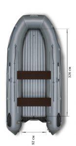 Лодка ПВХ Флагман 450 НДНД надувная под мотор