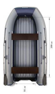 Лодка ПВХ Флагман DK 450 Jet НДНД надувная под мотор