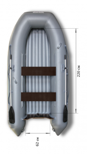 Лодка ПВХ Флагман 320 НДНД надувная под мотор